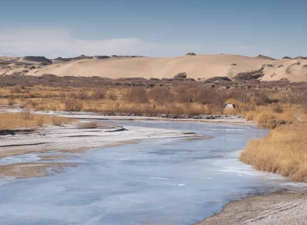 ice and sand tibet