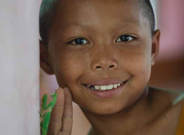 laotian young monk portrait