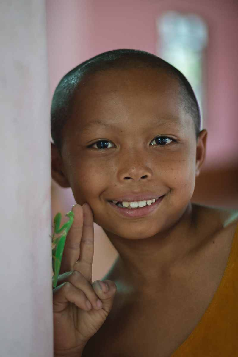 laotian young monk portrait