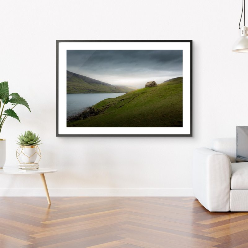 Fjord Faroe Islands 100x70cm Print
