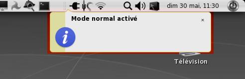 Mode normal activé