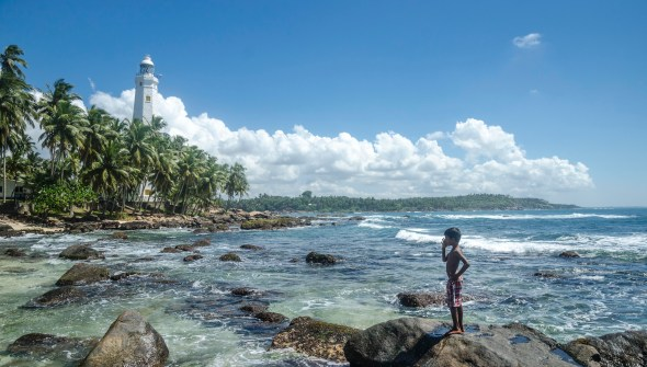 Sri Lanka Landscape with lighthouse