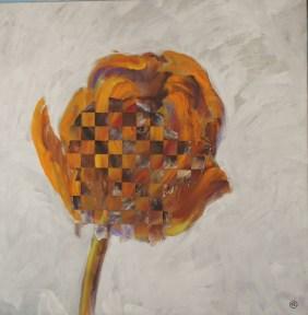 Chienne de Fleur - www.fabiennecolin.com Acrylique sur toile 100X100