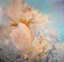 Iris - www.fabiennecolin.com Acrylique sur toile 250X250