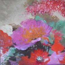 Je suis une libellule 2 - www.fabiennecolin.com Acrylique sur toile 250X250