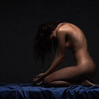 art nude dancer black bird
