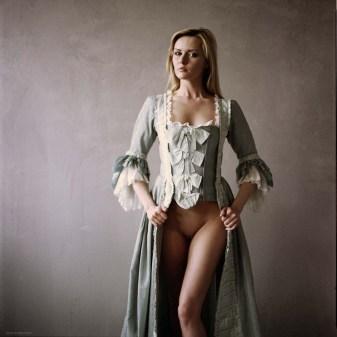 beautiful nude lady in costume