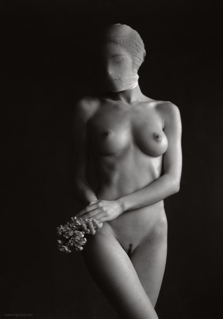 nude photography of a lady, infrared