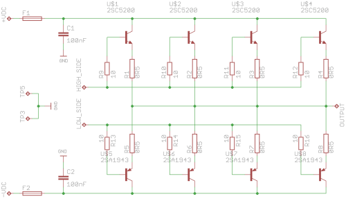 small resolution of out pwr st sch 2sc5200 2sa1943 output power stage out pwr st sch amplifiers 2sc5200 circuit diagram
