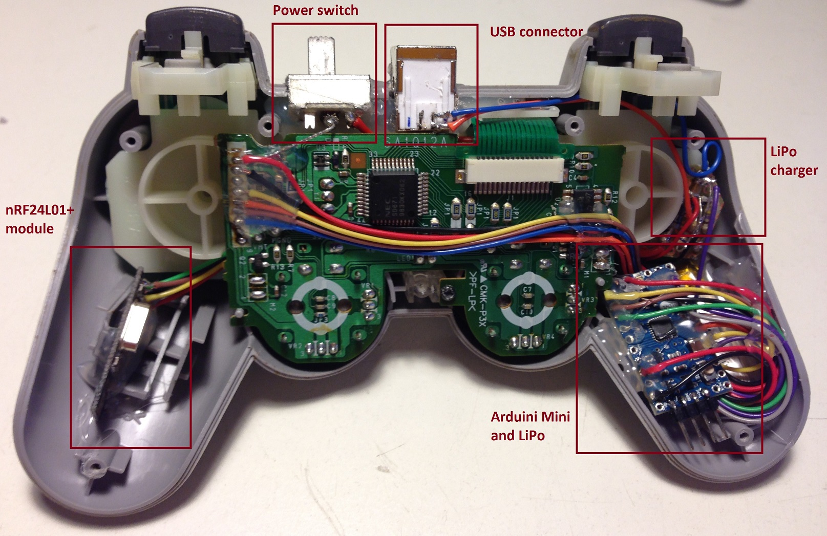 hight resolution of psx controller internals explained