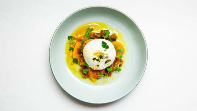 Four Seasons - Restaurantes Flouries - Burrata com salada cítrica