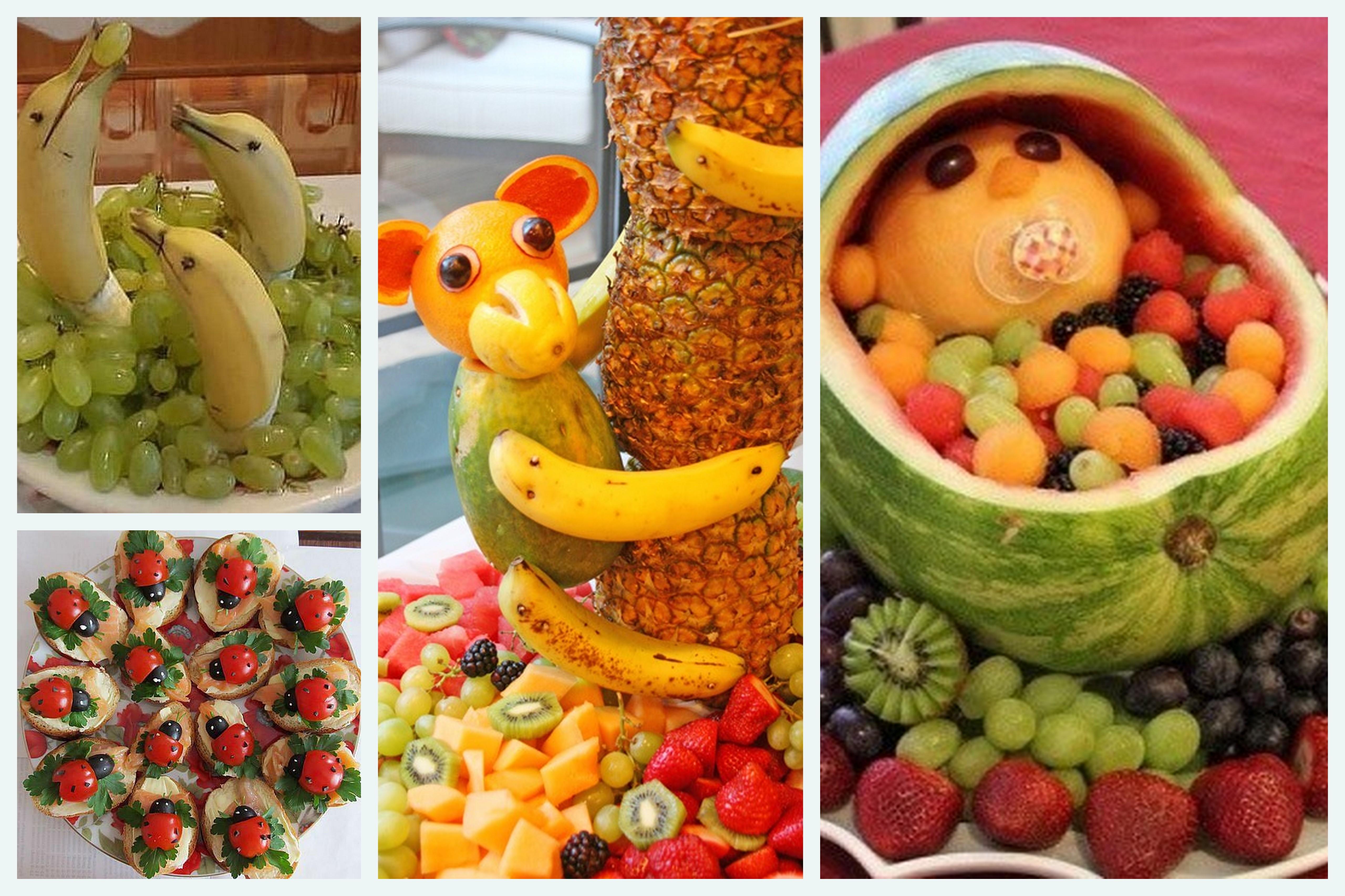 Decoraç u00e3o com frutas Quanto mais simples, mais bonita