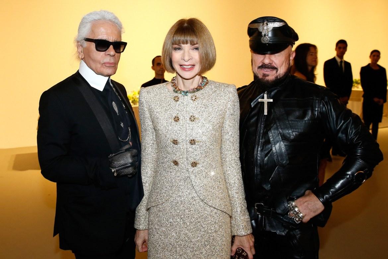 Peter Marino com Karl Lagerfeld e Anna Wintour