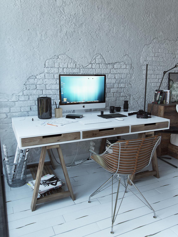 Decoração, escritório, quarto, Andrey Vladimirov