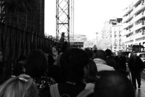 Fila pra entrar na Sagrada Família