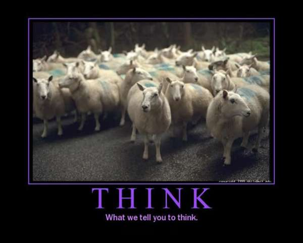 Think. Don't be Sheep.