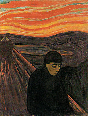 """Despair"" by Edvard Munch (1894)."