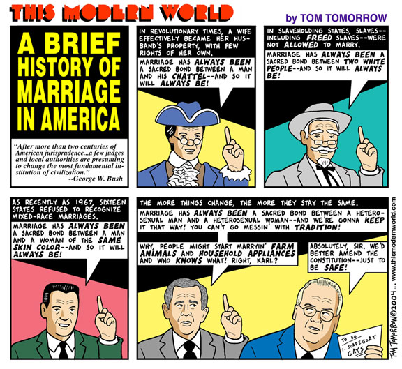 Tom Tomorrow: marriage
