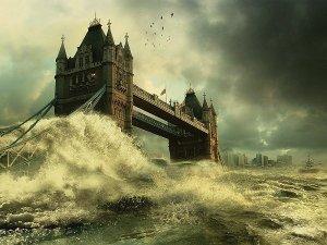 London Bridge flooded