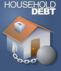 Household debt ball and chain