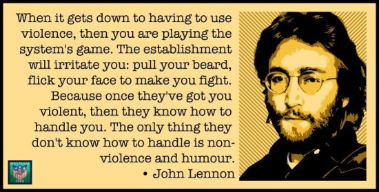 Lennon on nonviolence