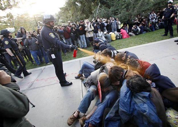 Pepper spray by police