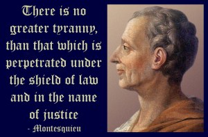 Fake quote of Montesquieu on tyranny