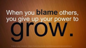 Don't Blame. Grow