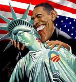 Obama as a vampire