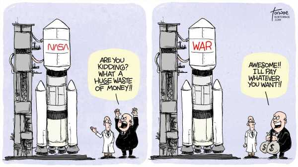 Cartoon about NASA