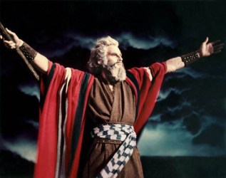 "Moses in ""THE TEN COMMANDMENTS"" 1956"