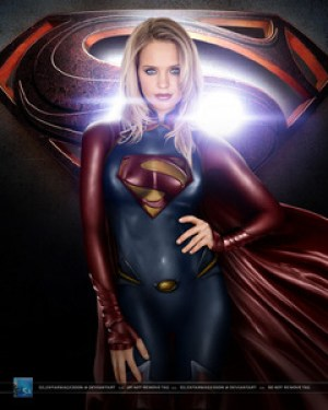 Supergirl, in a future Man of Steel