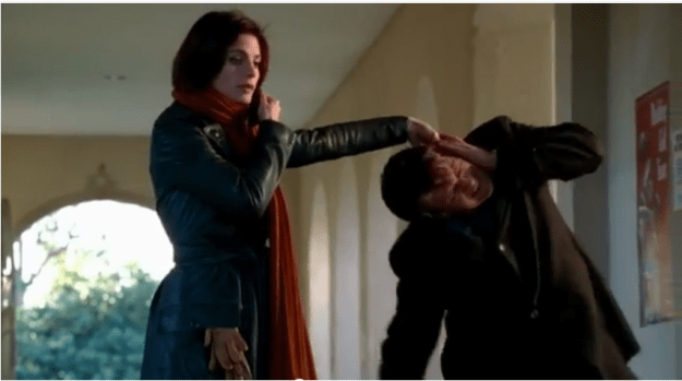 "Beckett humiliates Castle in S01E03: ""Hedge Fund Homeboys"""