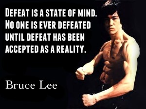 Bruce Lee on Defeat