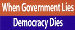 Government lies - democracy dies
