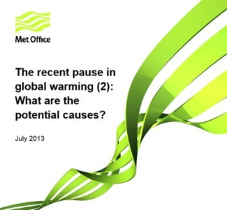 Met Office report about the pause in global warming