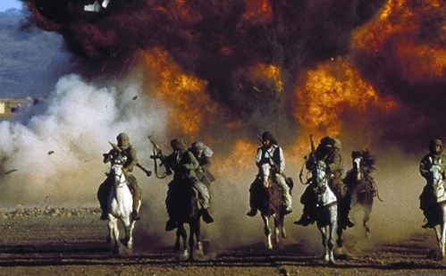"Mujahadeen riding to the rescue in ""The Living Daylights"""
