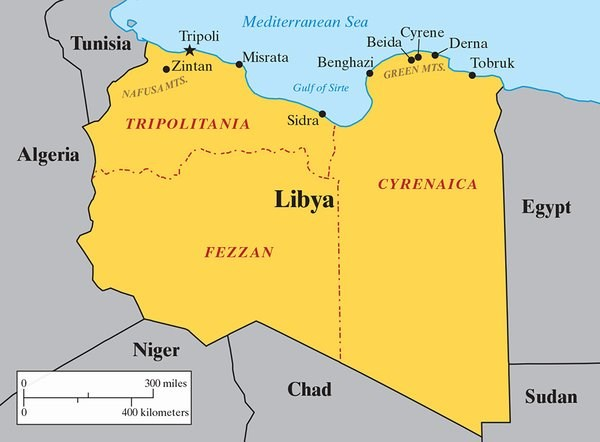 The parts of Libya