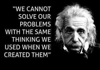 Einstein on problems and solutions