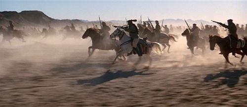 Mujahideen cavalry riding to the rescue in Rambo III
