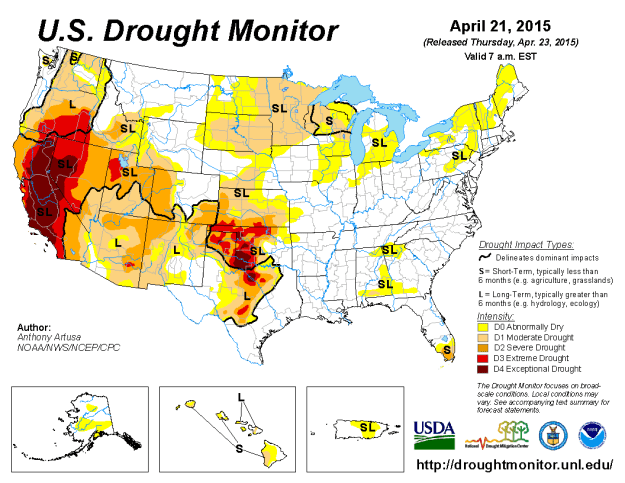 US Drought Monitor: March 2015