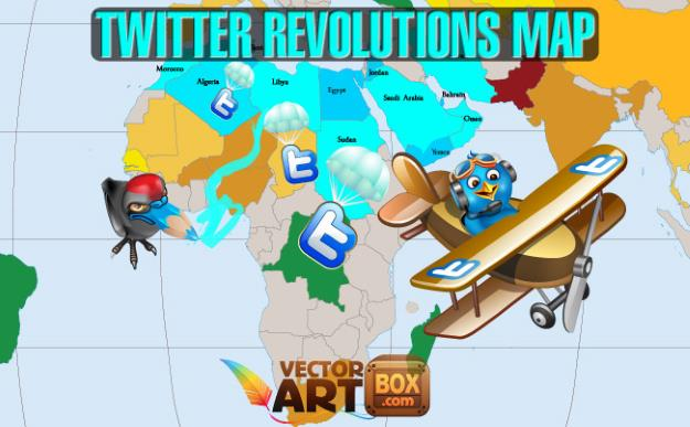 Map of Twitter revolutions