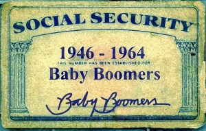 Baby Boomers' Social Security card