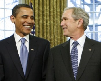 Bush & Obama: First Buddies