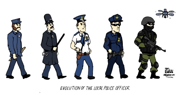Evolution of a local police officer.