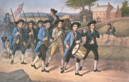 Minutemen marching