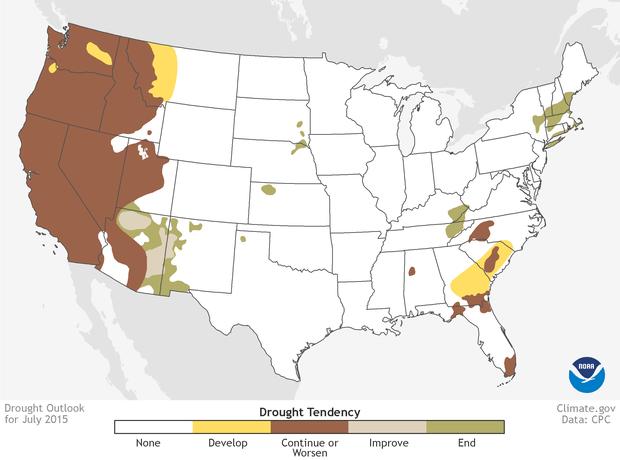 NOAA Drought Outlook: July 2015