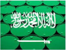 Saudi Arabia Flag & Oil Barrels