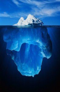 Tip of iceberg