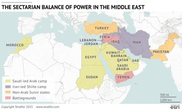 Stratfor: Map of Middle East
